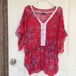 Beverly Drive red swimsuit coverup